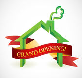 Home or business grand opening banner illustration Stock Images