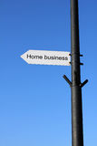 Home business sign. Stock photo of Home business sign stock photography