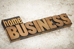 Home business  in wood type Stock Image