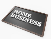 Home Business word concept. On blackboard, white background Stock Photography