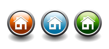 Home button web icons Stock Image