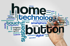 Home button word cloud Royalty Free Stock Photography