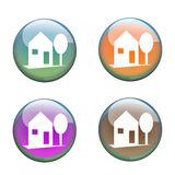 Home buttons Stock Photos