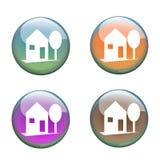 Home buttons Stock Photos