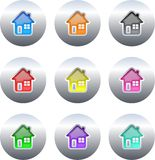 Home buttons Stock Photo