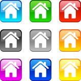 Home buttons. Stock Images
