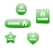 Home Buttons Green Stock Images