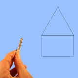 Home Buyer. Home buying conceptual business image I made with plenty of room to add your text Stock Images