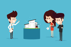 Home buyer. Flat design business concept royalty free illustration