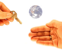 Home Buyer's World. Home buying conceptual business image I made with plenty of room to add your text Stock Image