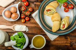 Home calzone rolls stock photos