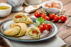 Home calzone rolls Royalty Free Stock Image