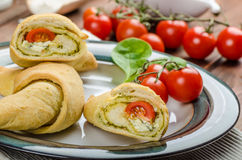 Home calzone rolls Royalty Free Stock Photography