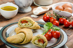 Home calzone rolls Royalty Free Stock Photo