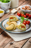 Home calzone rolls Stock Image