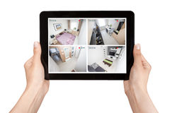 Home camera cctv monitoring system alarm smart house video Royalty Free Stock Images