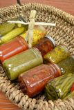 Home Canned Food Variety Stock Image