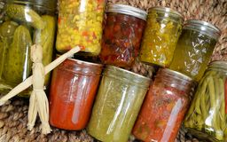 Home Canned Food Variety Stock Images