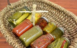 Home Canned Food Variety Royalty Free Stock Photos