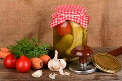 Home canning Stock Photo