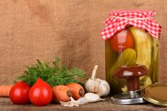 Home canning Stock Image