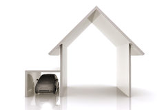 Home and car illustration Stock Images