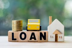 Home and car mortgage loan rate. Saving money for retirement. Concept royalty free stock photo