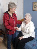 Home care. For an old woman in her home