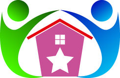 Home for care. A vector drawing represents home for care design Royalty Free Stock Images
