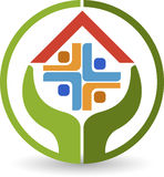 Home care logo. Illustration art of a home care logo with  background Royalty Free Stock Image