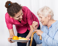 Home care service. For the elderly stock photo