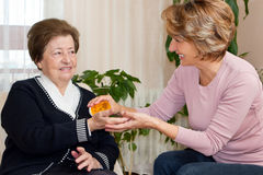 Home Caregiver Stock Photo