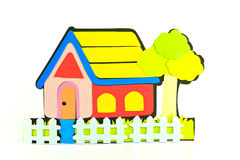 Home Of The Cartoon. The colorful cartoon home on white background Royalty Free Stock Photos