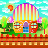 Home cartoon stock illustration