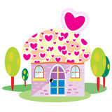 Home cartoon vector Royalty Free Stock Images