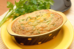 Home casserole with cheese and herbs Royalty Free Stock Photos