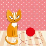 Home cat - Illustration Royalty Free Stock Image