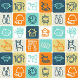 Home checked pattern stock photo