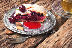 Home cherry strudel Royalty Free Stock Images