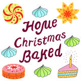 Home Christmas Baked ad Royalty Free Stock Image