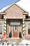 Home with Christmas Decorations Royalty Free Stock Images