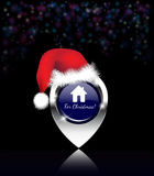Home for Christmas pin Stock Photography