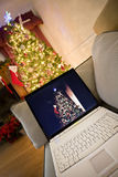 Home christmas shopping stock photography