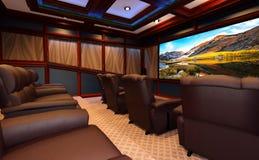 home cinéma du rendu 3D photo libre de droits