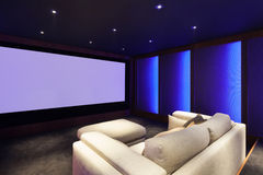 Home cinéma, intérieur de luxe images libres de droits