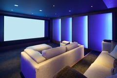 Home cinéma, intérieur de luxe photo stock