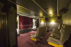 Home cinema 2. View in a private cinema Royalty Free Stock Photo