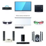 Home cinema entertainment set Royalty Free Stock Photos