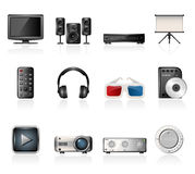 Home cinema icons Stock Photo