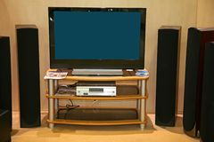 Home Cinema In Room Royalty Free Stock Photography